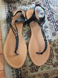 Women's Black sandals size 6 (new) Reston, 20190
