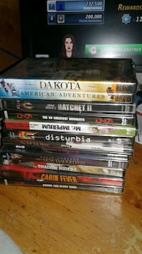 (11)BRAND NEW DVDS IN VINTON