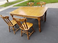 Solid Wood 5-piece Dining Set Mississauga