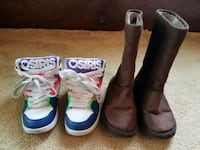 Girls Size 1 Sneakers & Boots - see description Clinton, 01510
