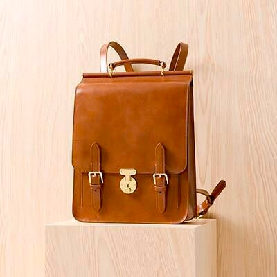 Women leather backpack (vintage style, genuine leather)