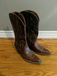 pair of brown leather cowboy boots Mississauga, L5C 1Z4