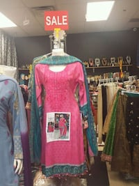 pink and green long-sleeved dress Toronto, M1S 4N5