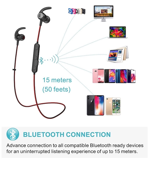 1bfbffe26a5 Brand New Seal In Box Best Wireless Stereo Earbuds Magnet IPX7 Sweatproof  Bath Shower Waterproof Earphones with Mic for Running Workout 9 Hrs Noise  ...