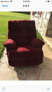Burgundy Microfiber Recliner and/or Burgundy Chair Ijamsville, 21754