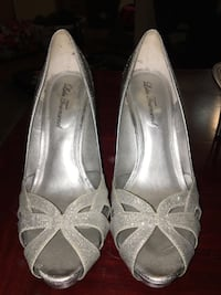 Silver shimmer heels Ames, 50010