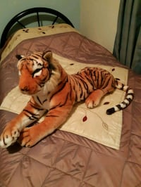 brown and white tiger plush toy Calgary, T3J 0A1