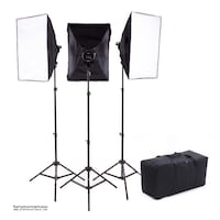 5000w 3-Point Continuous Softbox Lighting Kit + Travelling Bag / GTAPhotoStudio . com