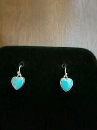 Heart-shaped turquoise earrings Rockville, 20852