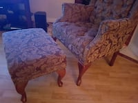 Brown Floral Chairs Coquitlam