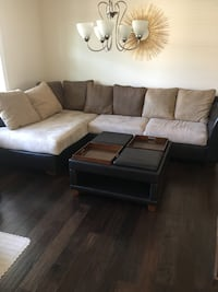 Used Living Room Sectional And Ottoman For Sale In Wake