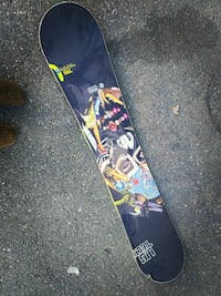 black and red snowboard with bindings Calgary, T3E 5C9