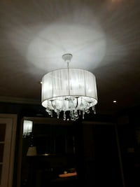 TWO Beautiful fabric and crystal chandeliers  Mississauga, L5M 7Y1