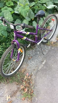 toddler's purple and white bicycle London, N6H