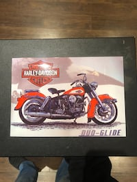 red and black Harley-Davidson motorcycle scale model box Mississauga, L5N 1L5