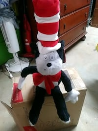 Cat in the hat plush doll