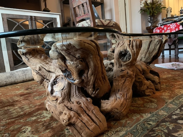 Must sell by Wed  Grapevine -Old Vines Coffee Table authentic, elegant 3ede6e36-dce9-44db-8af9-944d4bf6b91c