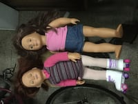 Four American Girl / Our Generation Girl dolls