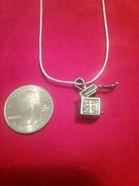 925 silver 18 inch necklace with crossbox Greer, 29651
