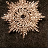 Silver plated brooch 535 km