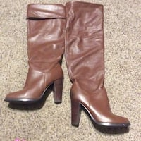 pair of brown leather knee-high boots Fullerton, 92833