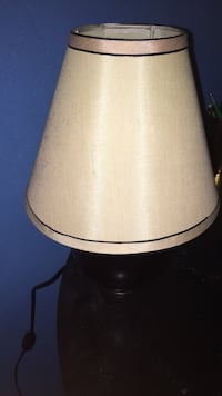 white and black table lamp 35 mi