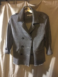 gray button-up jacket Gervais, 97026