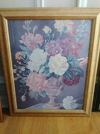 flower arrangement painting with brown wooden frame Covington, 30016