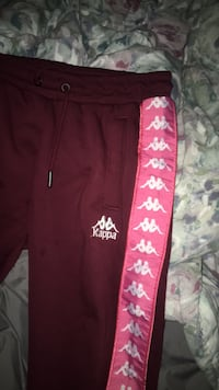 Red and pink kappa sweat pants worn once perfect condition  Waterdown, L8B 0E1
