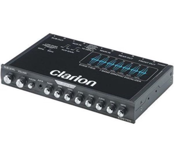 Brand New Clarion 7 Band Car Audio Graphic Equalizer With Front 3 5mm Auxiliary Input Rear Rca Auxiliary Input And High Level Speaker Inputs