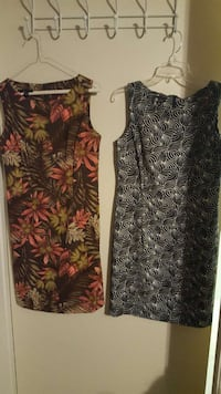 two grey, red and brown floral tank midi dress London, N6J 4W1