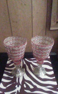 two red glass candle holders Richmond, 23222