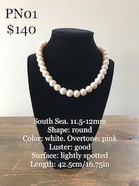 11.5-12mm South Sea pearl necklace Warman, S0K 4S3