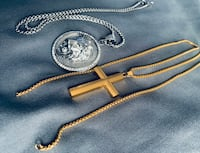 Gold Cross Chain and diamond silver lion chain District Heights, 20747