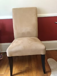 Pottery Barn suede dining chairs ALEXANDRIA