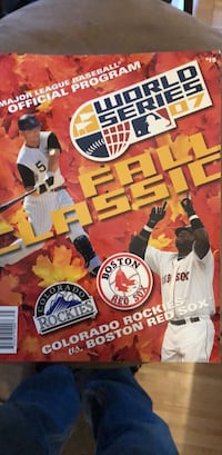 red sox 2007 world series official program