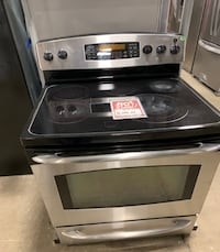 ❥Used GE glasstop electric stove stainless - Seaford
