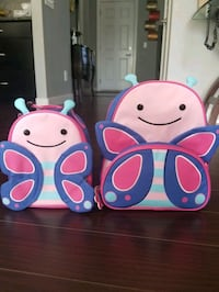 """skip hop toddler lunch bag &backpack, 12""""butterfly Calgary, T2Y 0G2"""