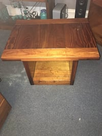 rectangular brown wooden coffee table Reading, 19601