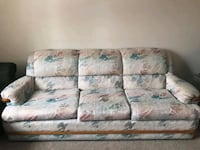 gray and white floral 3-seat sofa Calgary, T3J 2W6