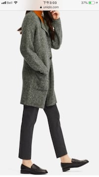 Uniqlo tweed knitted coat 3741 km