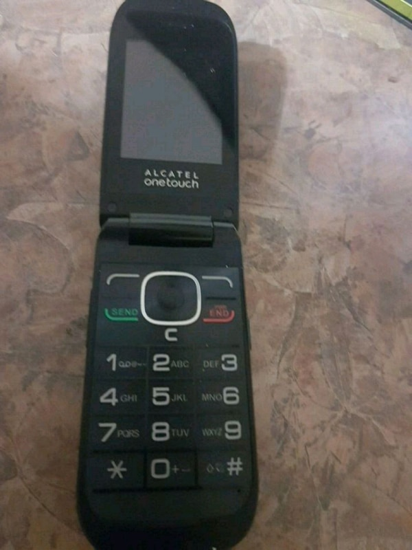 black Alcatel OneTouch flip phone fcd42524-592a-4126-8881-ee0105ee5801