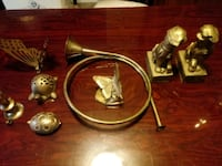 Brass bookends & pieces Eastover, 29044