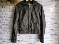 Billabong black faux leather jacket. Laval, H7N 4Z7