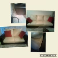 white leather 2-seat sofa Alexandria, 22306