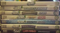 Sims 3 base game and expansions packs Yuba City
