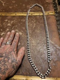 Real long silver gangsta chain 120 is yours Edmonton, T5H 2X8