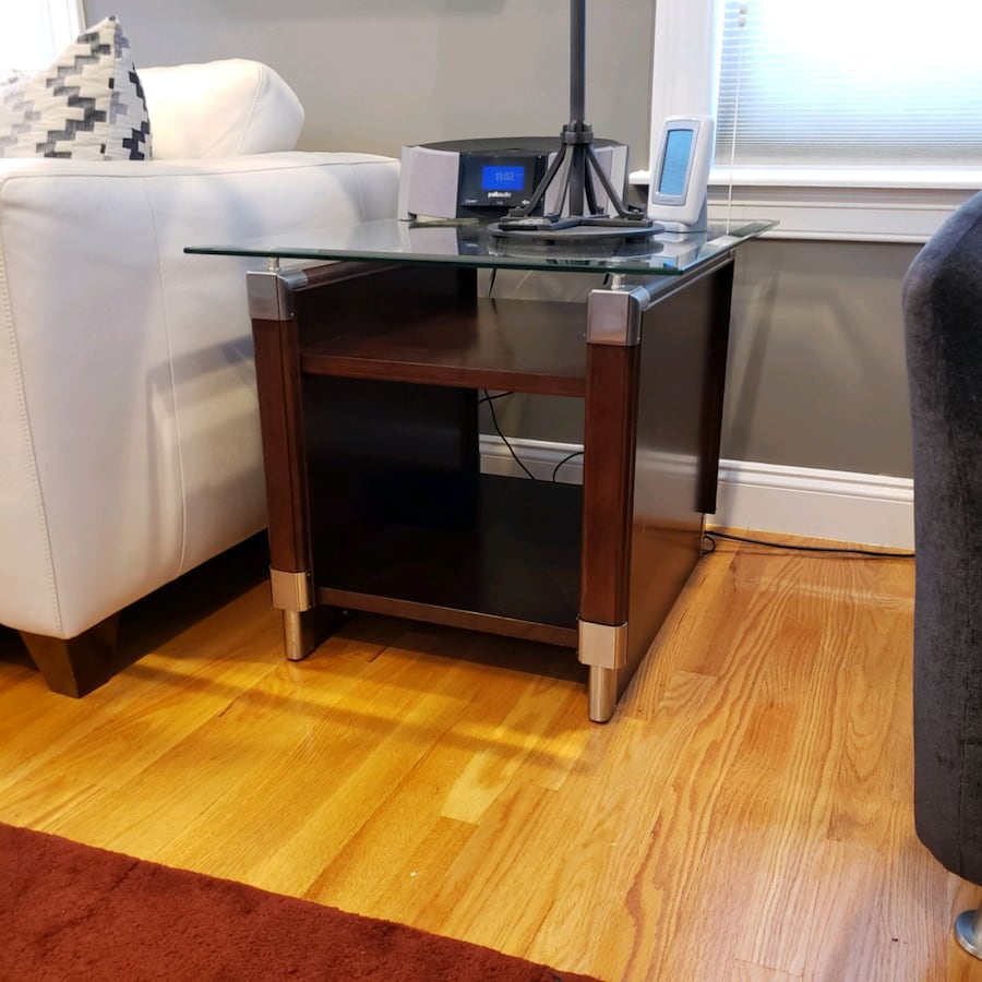 Living room furniture:sofa table, matching end table and side tables