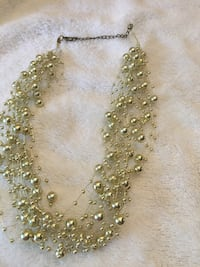 Gold beaded necklace and Earrings Set 36 mi