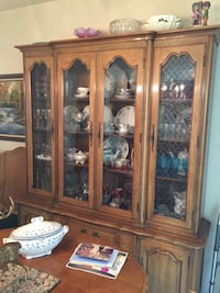 brown wooden framed glass display cabinet Gilroy, 95020